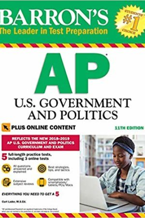 Barron's AP U.S. Government and Politics with Online Tests Eleventh Edition